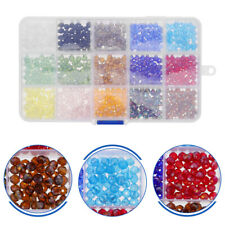 1 Box Crystal Glass Spacer Beads Loose Beads For Necklace Making