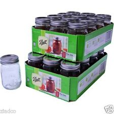 Lot of 24 Ball Mason Regular Mouth Canning Jars PINT~16oz w/Lids(NO S.TAX EX MN)
