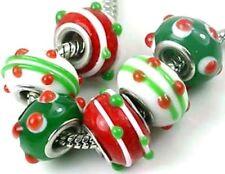Lampwork Handmade Glass Fit Charm Bracelet Christmas (6)