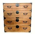 Antique Japanese signed Tansu Chest ~ Kiri wood ~ Meiji Period