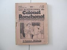 10 brochures illustrées les aventures du colonel Ronchonot 1931 Gustave Frison