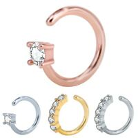 Nose Ring Ear Hoop Tragus Helix Cartilage Earring Crystal Body Piercing Jewelry