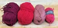 230g Lot-Bergere-Aran-Reds-Pink-Crafts-Double Knitting Yarn-Crochet-New-R3