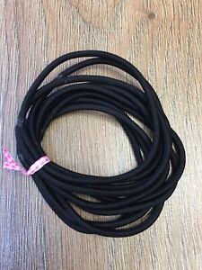 10X Extra Long &  Strong Black Hair Elastics Hair Bands  Endless Hair Bands Big