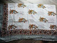 Indian Sarong Hand Block Anokhi Print Cotto Pario Swim Cover up /Stole Bikini sk