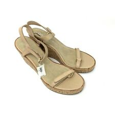 Gap Women's Tan Leather Wedge Sandals Size 9