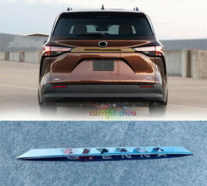 For Toyota Sienna 2021-2022 Chrome Rear Trunk Cover Tail Door Moulding Lid Trim