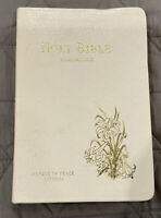 KJV Holy Bible Concordance Prince Of Peace Protestant Edition White Leather.