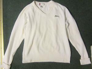 Vintage Golf shop,Golfing White Knit V-Neck Sweater size M