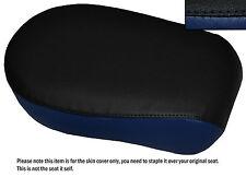 BLACK & NAVY BLUE CUSTOM FITS YAMAHA XVS 650 CLASSIC V STAR REAR SEAT COVER