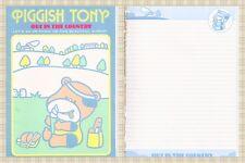 PIGGISH TONY 80s Three Leaf Taiwan stationery letter pad 10 pg - carta lettera