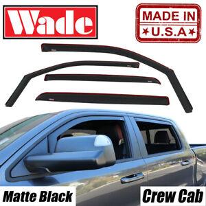 2015 - 2020 Chevy Colorado Crew Matte Black Wind deflectors In-Channel