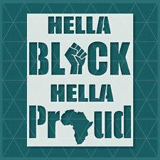 Black Lives Matter Raised Fist Black Power Stencil George Floyd Black BLM