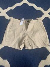 Banana Republic Khaki Hampton Fit Shorts NWT 0 $39.99