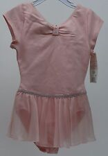 Danskin Pink Short Sleeve Leotard Dance XSmall 4/5 NWT