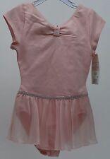 Danskin Pink Short Sleeve Leotard Dance XSmall 4/5 NWT