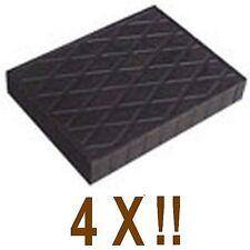 4 X bloc de caoutchouc 110x140x20 mm. pour Pont elevateur - Italie - tampons