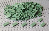 LEGO 50 PEZZI Lime Verde 1x2 TILE 3069 Città Ferrovia City