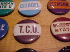Texas Christian TCU University 1940-1950 Vintage  Pin