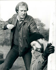 Dennis Waterman punches out Frank Mills original scene photo Minder