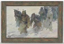 """Russian Civil War"", by Arkadi Pavliuk (b.1925), Oil Painting, 1966"