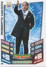 N°110 MANCINI # ITALIA MANCHESTER CITY TRADING CARD MATCH ATTAX TOPPS 2013