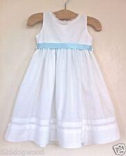 NWT STRASBURG 12M LEXI White Beach Portrait Flower Girl 100% Cotton Slip Dress