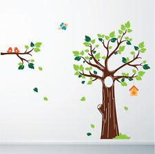 Jungle Forest Tree Birds Nursery Vinyl Wall Stickers, Wall Art, Wall Graphics