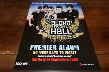 ALOHA FROM HELL - Publicité de magazine / Advert NO MORE DAYS TO WASTE !!!!!!!