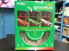 Meilo 16 ft LED Color Control Red White Green Rope String Light RL16-C-CCRW