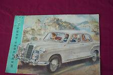 Mercedes W120 W 121 Ponton Typ 180 Faltprospekt