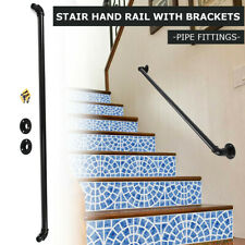 Stair Guard Handrail Banister Brackets Industrial Pipe Wall Mount Rack Support