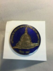 """Veterans Foreign Wars - Political Action Committee Pin ( Metal ) 1"""" 1986"""