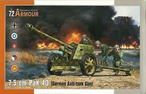 Special Armour 1/72 7.5cm Pak40 Anti Tank Gun