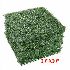 12 Wall Artificial Grass Green Boxwood Wall Mat Hedge Fence 20