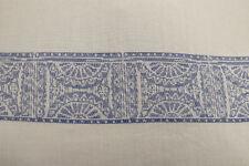 Architectural Jacquard Stripe Soft Viscose Voile Dress Fabric Material (Blue)