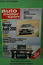AMS Auto Motor Sport 12/83 Audi 200 BMW 524 td 320i Cabrio DB 190E