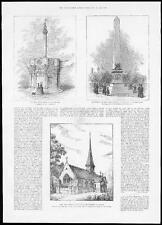 1885 OLD TOWN CROSS EDINBURGH - BURNABY MONUMENT BIRMINGHAM  Berlin Church (225)