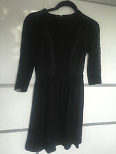 Mulberry wool and lace black Dress UKBNWT