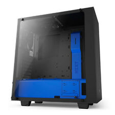 NZXT SOURCE 340 ELITE GAMING TOWER VR READY CASE & GLASS SIDE PANEL - BLACK BLUE