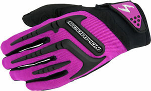 Scorpion Womens SKRUB Off-Road Short Cuff Ventilated Gloves (Pink) Choose Size