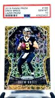 2019 Prizm LAZER Saints DREW BREES CARD PSA 10 GEM MINT / TOTAL PSA POP 3!!!!