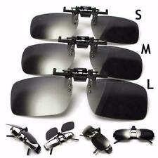Polarized Clip On Flip Up Sunglasses Shades for Myopia Glasses Driving Eyeglass