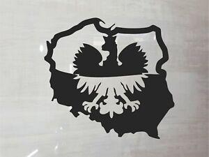 Poland map Eagle Sticker Vinyl Decal Emblem White or Black Car Laptop etc Polska