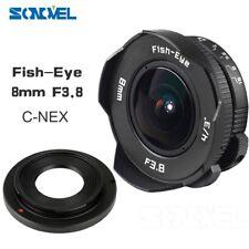 """8mm f/3.8 4/3"""" Fisheye CCTV Lens for Sony α7S α7R α7II α6000 NEX-7 NEX-5C"""