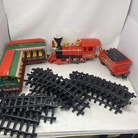 Vintage Walt Disney World Exclusive Railroad Train Set W/ Track Tested Steam