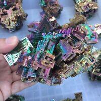 Rare Rainbow Titanium Bismuth Specimen Mineral Gemstone Crystal Quartz Decor