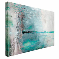 Abstract Blue strokes Canvas wall Art prints high quality great value