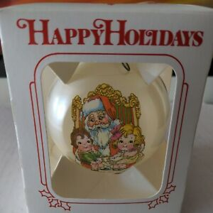 Vintage Campbell's Soup kids Holiday Christmas Tree Ornament with box 1980