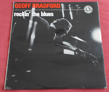 GEOFF BRADFORD  LP ORIG UK  ROCKIN THE BLUES  BLACK LION